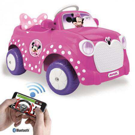 Coche electrico minnie con rc 6V