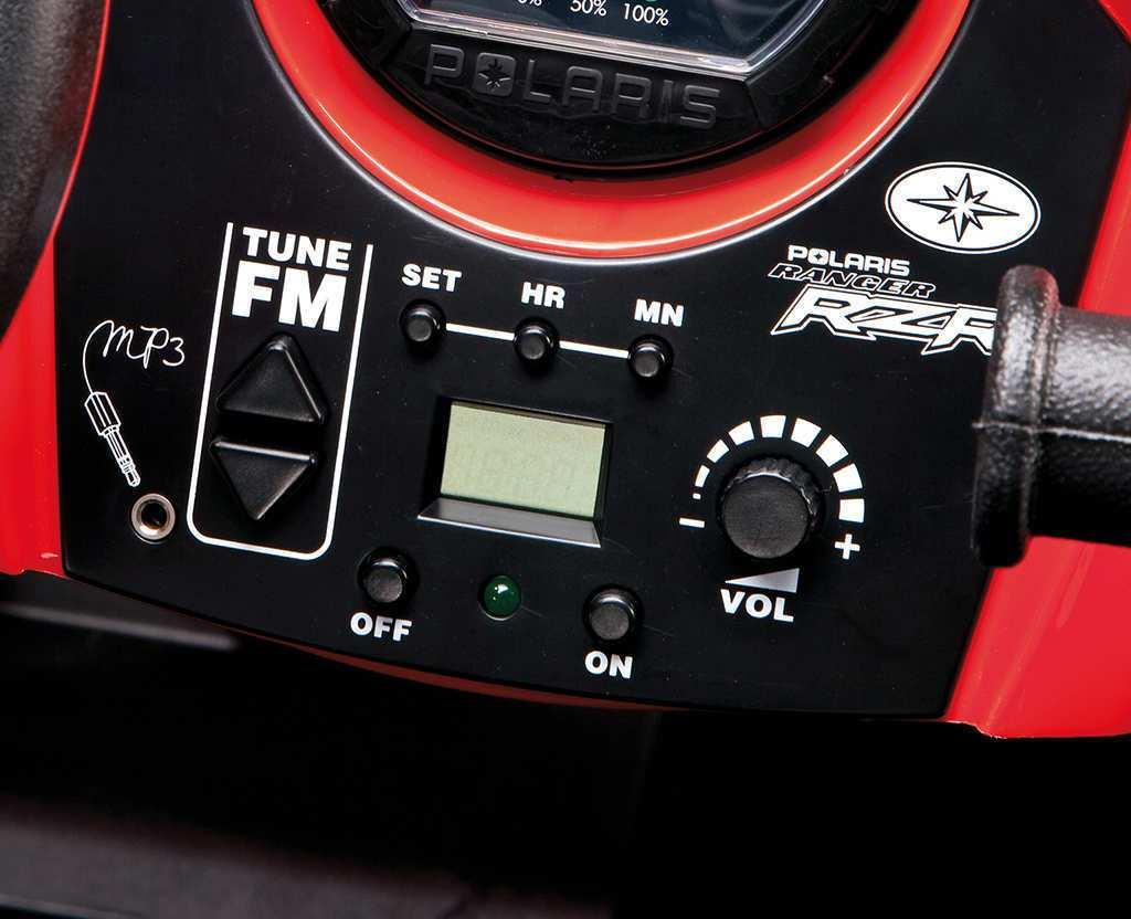 JEEP POLARIS RANGER 24V ROJO RADIO FM width=