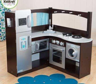 Cocina gourmet esquinas kidkraft 53302 tienda de for Cuisine en bois jouet