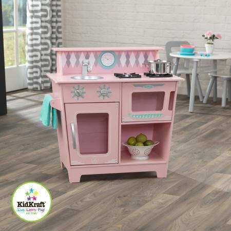 Cocinitas de madera para ni os kidkraft y howa tiendas - Cocinas de color rosa ...