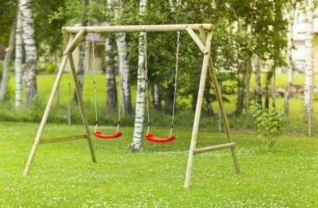 Columpios columpios de madera inforchess for Arboles altos para jardin