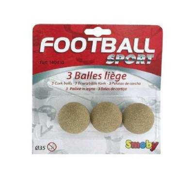 bolas futbolin corcho