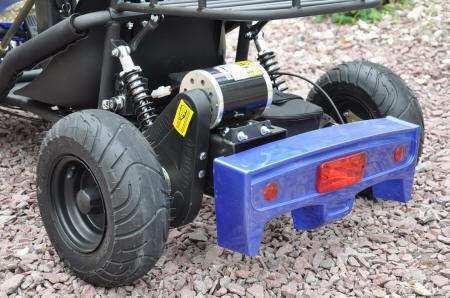 Parte trasera del kart eléctrico 500w 36v blue pekecars width=