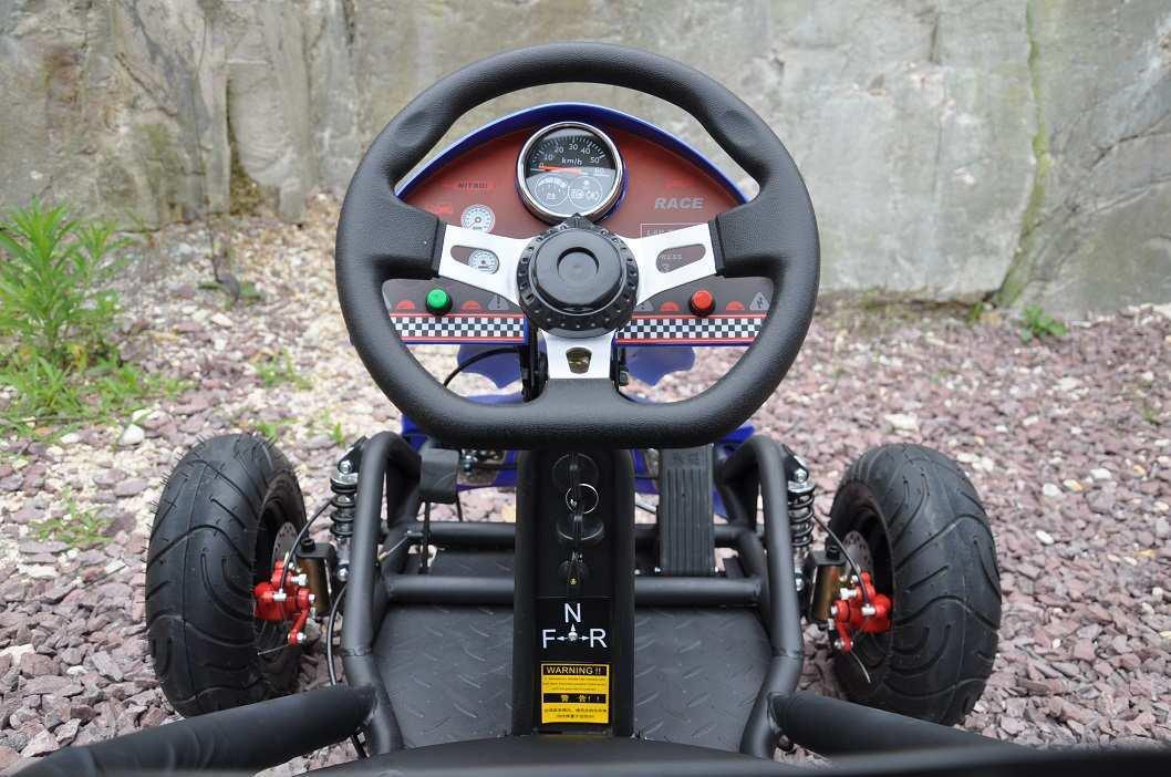 Volante del kart eléctrico 500w 36v blue pekecars width=