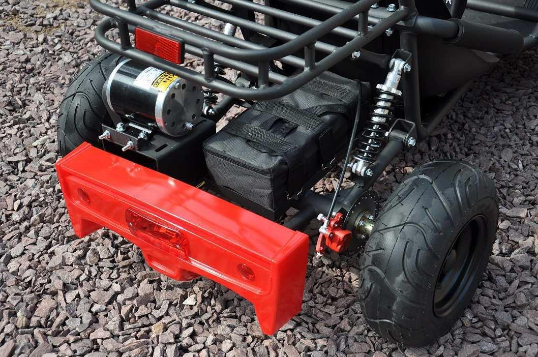 Parte trasera del kart eléctrico 500w 36v red pekecars width=