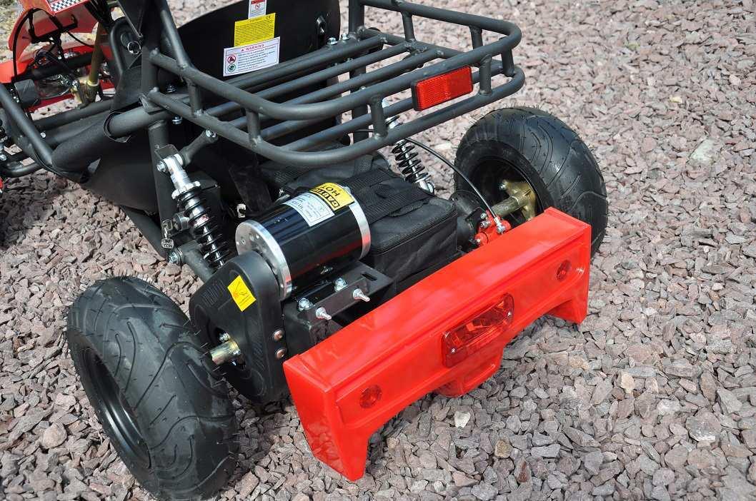 Vista trasera del kart eléctrico 500w 36v red pekecars width=
