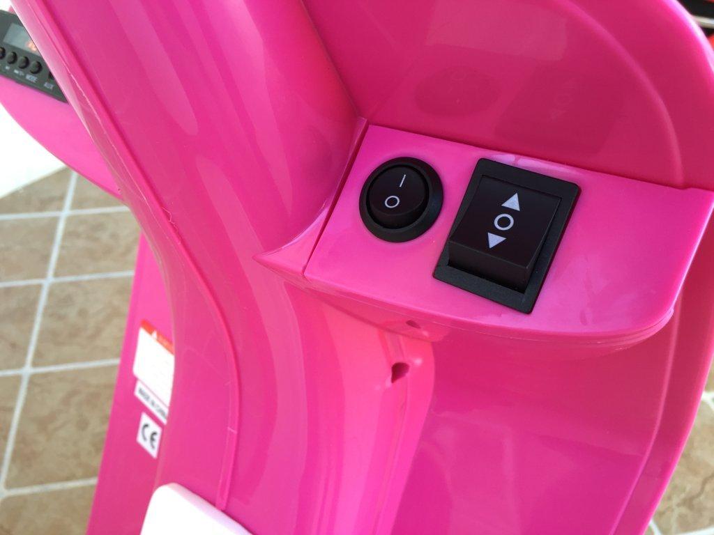 Vespa style 12v pink boton de arranque
