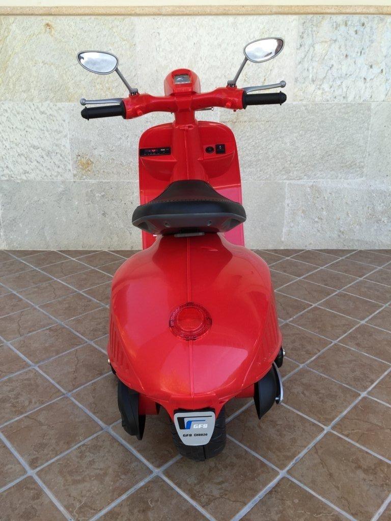 Vespa style 12v red pedal-006 width=