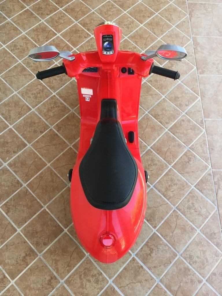 Vespa style 12v red pedal-005 width=
