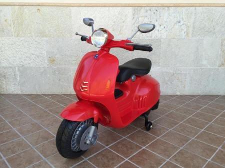 Vespa style 12v red