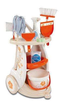 carrito de limpieza de juguete