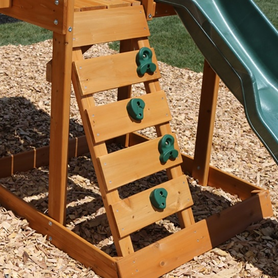 Parque infantil Ainsley Kidkraft pared escalada
