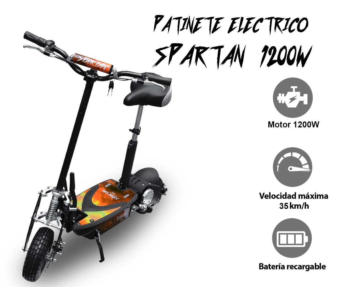 PATINETE ELÉCTRICO SPARTAN 1200W Bateria Litio