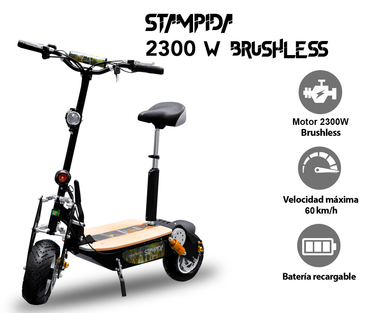 PATINETE ELÉCTRICO STAMPIDA 2300W BRUSHLESS