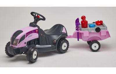 Tractor correpasillos para las princesas de la casa