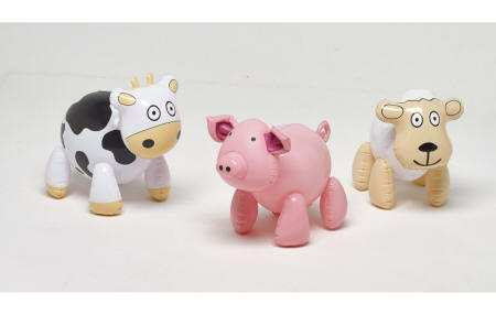 3 ANIMALES DE GRANJA HINCHABLES INFORCHESS