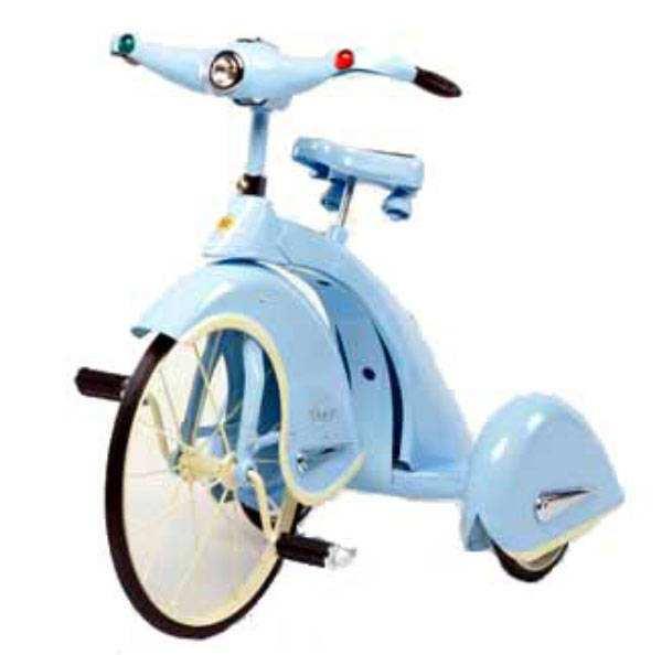 Triciclo azul rey del cielo
