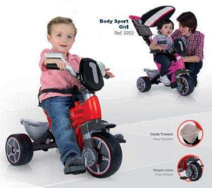 Triciclo body completo rojo width=