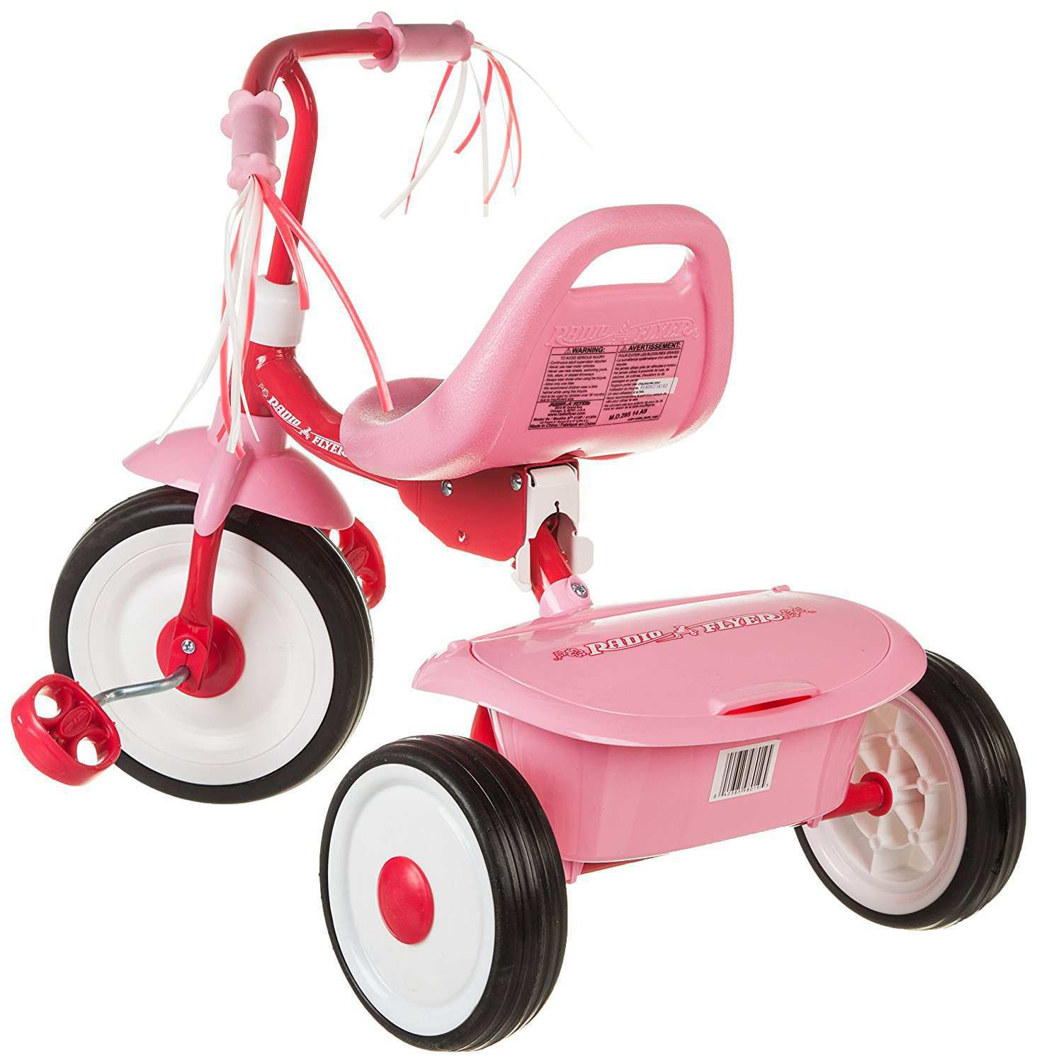 triciclo plegable rosa radio flyer-2